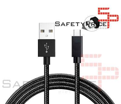 CABLE USB-C ALUMINIO TRENZADO MÓVIL TABLET TIPO C 1m NEGRO NYLON CARGA...