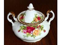 Royal Albert Old Country Rose Sugar Bowl with Lid