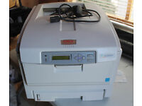 OKI C5800 COLOUR LASER PRINTER THESE PRINTERS ARE FULL COLOUR LASER ALMOST FULL TONERS