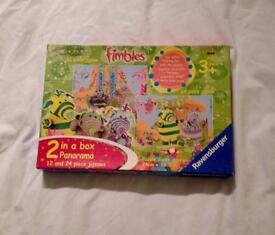 RAVENSBURGER CBEEBIES FIMBLES JIGSAWS. TWO IN A BOX. 12 AND 24 PIECES.