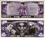 USA 1 million $ bankbiljet The Joker (DC Comics) NIEUW & UNC