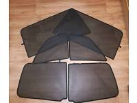 Genuine vauxhall GM zafira B privacy shades complete set.