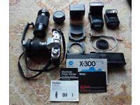 Camera Minolta X300 SLR 35mm