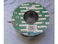 Tower - 2.5mm Flat Twin & Earth Flat Grey Cable - (Max 5mtrs used from 50mtr Drum)