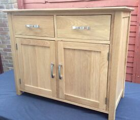 100% Solid Oak Sideboard, New & Boxed.