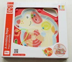 Hape Kids A-mazing Pepe Wood Maze | Kids Toys