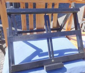 "TABLETOP ARTISTS WOOD EASEL - 17X15"" Adjustable height - Never Used OAKVILLE 905 510-8720 ; artist art supplies black"
