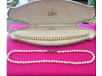 Vintage 'pearl' necklaces