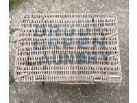 Vintage large wicker laundry basket