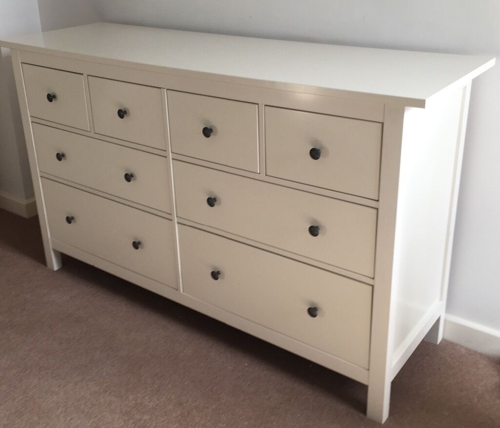 Ikea Hemnes Large White Chest Of  Drawers Excellent Condition