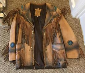 Indian/Western Fringed Leather Jacket XL BOUGHT FOR £800