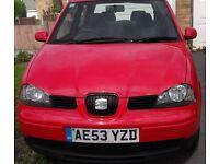 Seat Arosa 1.0 Hatchback 2003 red