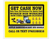 Cash Paid iPhone X 7 8 8 Plus 7 Plus 6s 6s Plus Samsung s8 s8 Plus s7 s7Edge Note 8 iPad GooglePixel