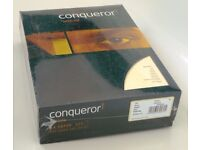 Conqueror A4 100 gsm Vellum Laid Quality Paper for Inkjet & Laser pk of 500 sheets