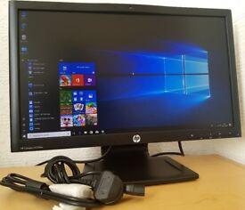 "HP 22"" Full HD 1080p LED Monitor with Builtin Webcam,Speakers,DVi,VGA,Display port for pc/cctv etc.."