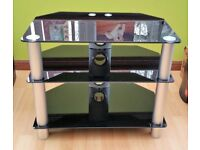 3 Tier Glass TV Stand, Very Good Condition