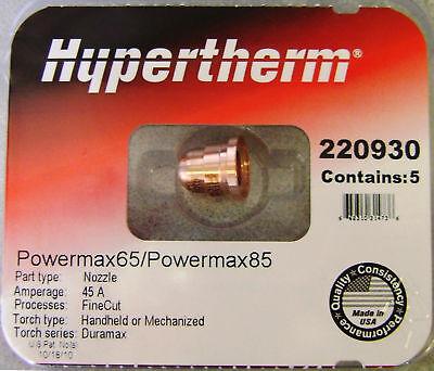 Hypertherm Genuine Powermax 45 Xp Fine Cut Nozzles 220930 5 Pack