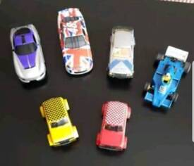 Large lot of Scalextric Track, cars, etc