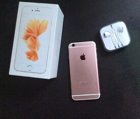 iPhone 6s 16gb rose gold unlocked with warranty till may