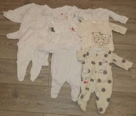Bundle of unisex baby clothes