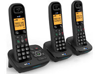 SALE! BRAND NEW BT ADVANCED TRIPLE CORDLESS TEPLHONE WITH ANSWER MACHINE ONLY £75 !