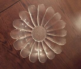 Dartington glass Daisy Platter fruit bowl, perfect condition