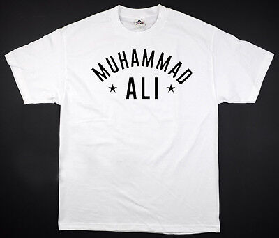 Muhammad Ali   White T Shirt Legend Boxing Goat Stars All Sizes S 2Xl