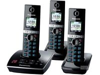 Panasonic Base and 3 Handset Phones