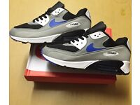Brand New With Box Men's Nike 90s White/Grey Size 10