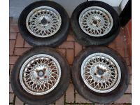 Compomotive CX 14x6J 4x100 Mesh Alloy Wheels VW Golf BMW E30 not BBS
