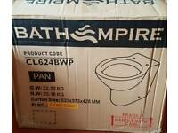 Back to wall toilet pan brand new