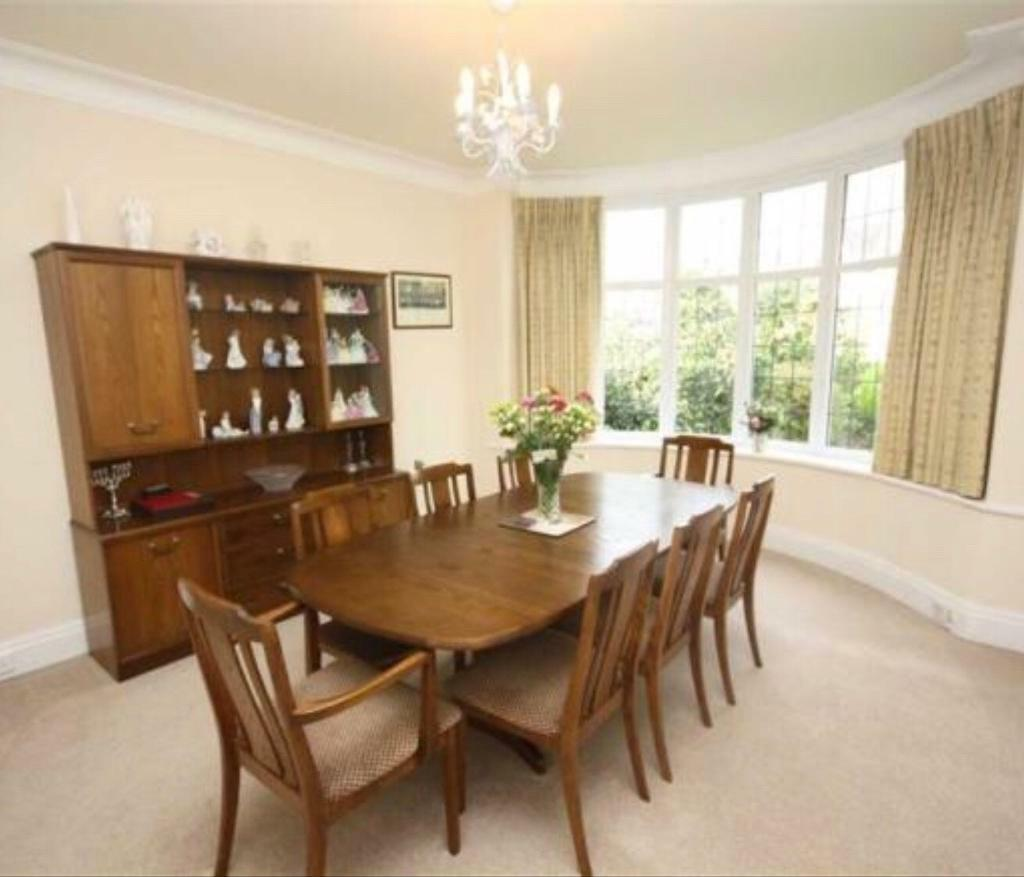 Dining Table With 8 Chairs And Matching Display Unit
