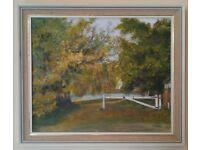 Oil Painting 'River Laleham' by Elizabeth Smith (25cm x 30cm)