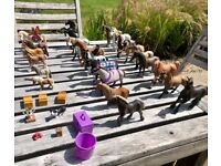 Will sell separately! Job lot of Schleich horses and riders, can post small numbers of horses