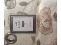 "DUNELM Eyelet Curtains W 168cm(66"") D 137cm(54"")"