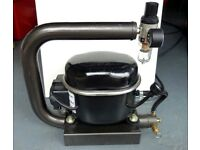 Silent compressor and airbrush