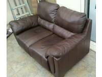 Two Seat Brown Sofa