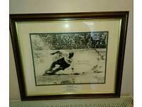 Sir Tom Finney Signed framed photo