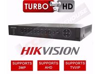 8 CHANNEL HIKVISION DS-7204HUHI-F1/N DVR 3MP TURBO 3.0 1080P AHD TVI CVBS