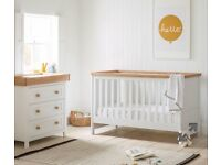Mothercare Lulworth cot bed and changing unit