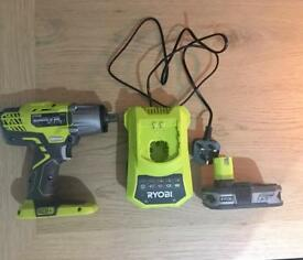 Ryobi R18IW3-0 One+ Impact Wrench, 2.5ah battery & charger