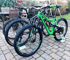3 Bikes for sale, Full-sus, Hardtail and Hybrid
