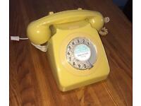 Genuine 1976 GPO 746 Telephone in Topas yellow very 70s collectible