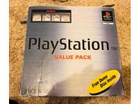 Boxed Sony PlayStation Console and Spyro game