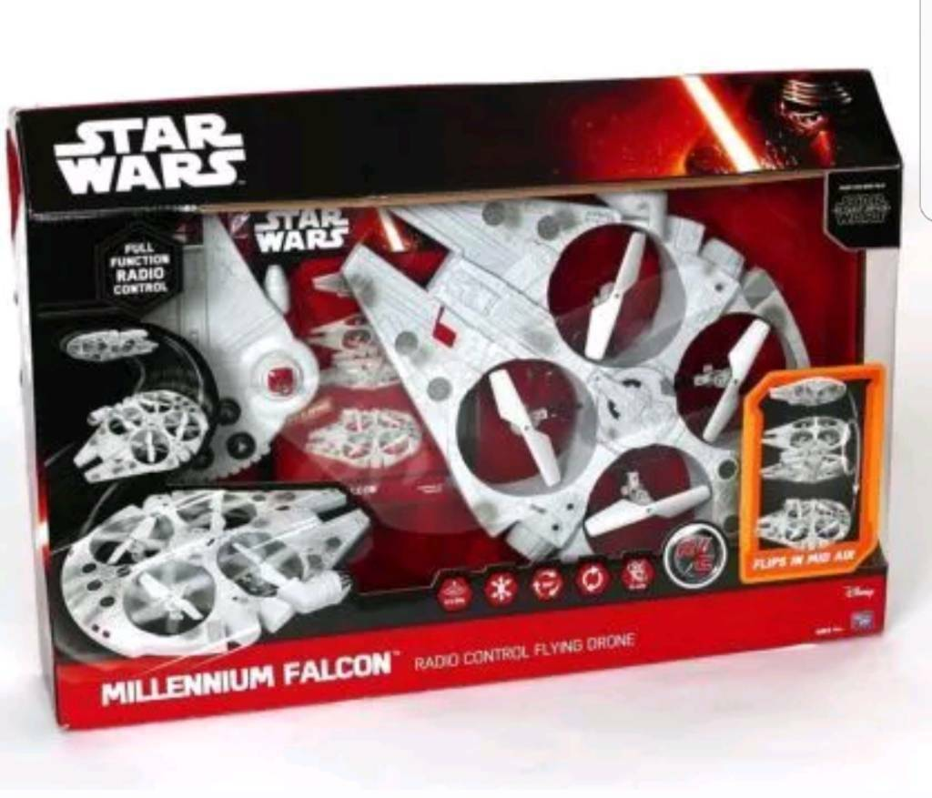 £20 IF SOLD TODAY!!! STAR WARS MILLENIUM FALCON QUADCOPTER RC DRONE BRAND NEW