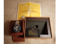 Breitling Chronoliner blue. Brand new with two year warranty. Y2431016/C970