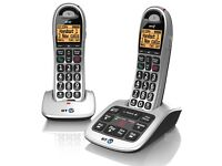 BT 4500 Cordless Big Button Twin Phone with Answer Machine