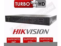 4 CHANNEL HIKVISION DS-7204HUHI-F1/N DVR 3MP TURBO 3.0 1080P AHD TVI CVBS