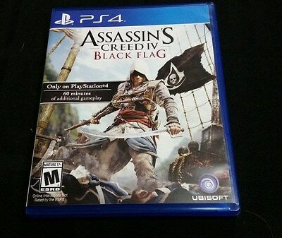 Replacement Case (NO GAME) ASSASSIN'S CREED IV BLACK FLAG PLAYSTATION 4 PS4 Flag Case Zubehör