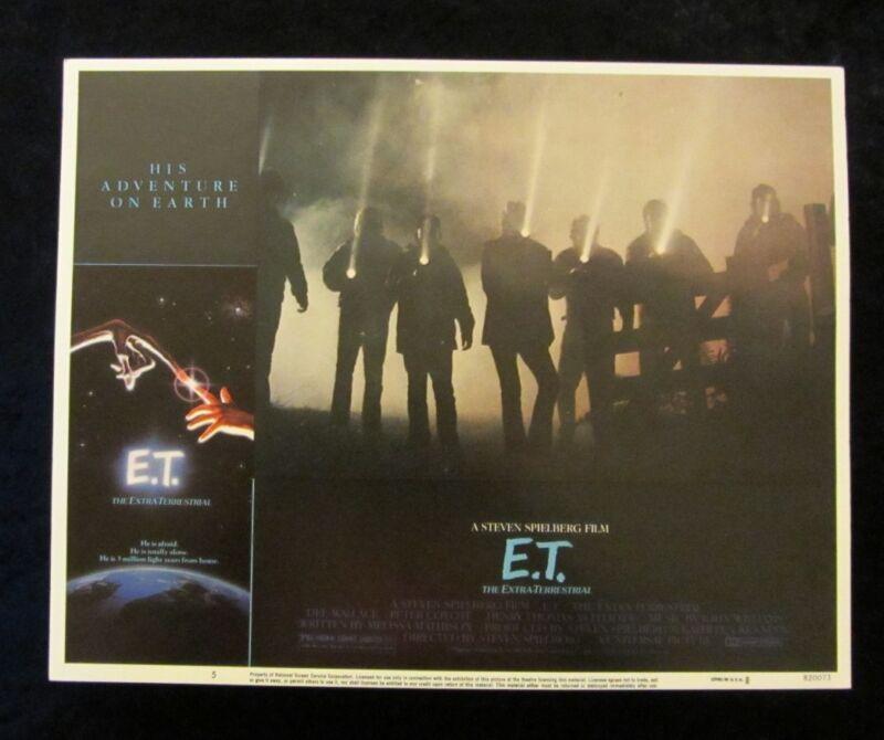 E.T. The Extra Terrestrial lobby card # 5 Steven Spielberg, Henry Thomas